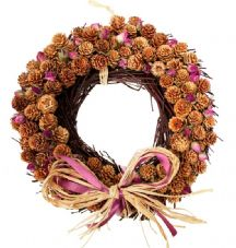 Winter Rose Wreath: Round Shaped (2 sizes available)